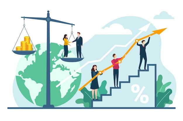 Teamwork bedrijfsethiek concept