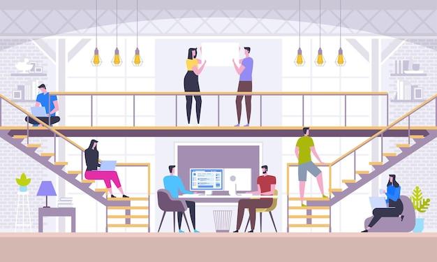 Teamwork concept en sociaal netwerk