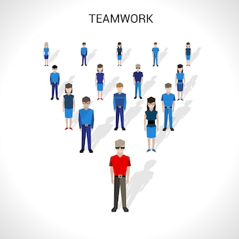 Teamwork concept illustratie
