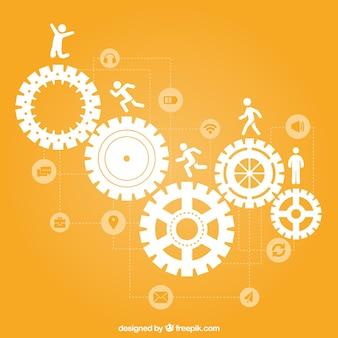 Teamwork concept pictogrammen