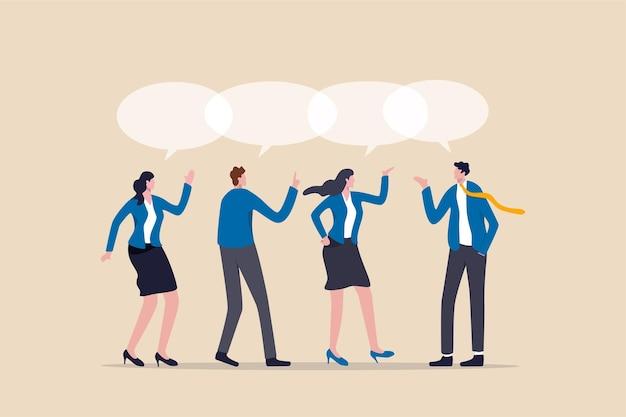 Teamwork deelt mening, teamvergadering delen idee.