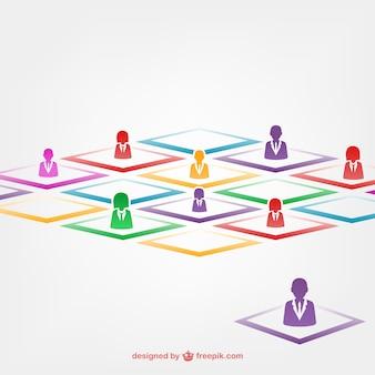 Teamwork kleurrijke avatars
