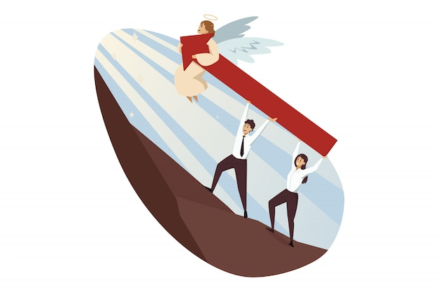 Teamwork, opstarten, succes, religie, christendom, ondersteuning, bedrijfsconcept