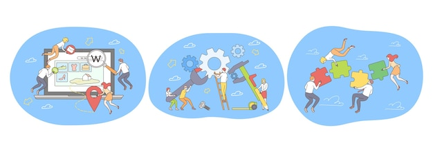 Teamwork samenwerking samenwerking succesvolle projectrealisatie