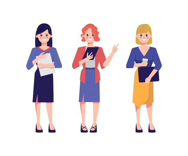 Teamwork van zakenvrouw mensen co werken