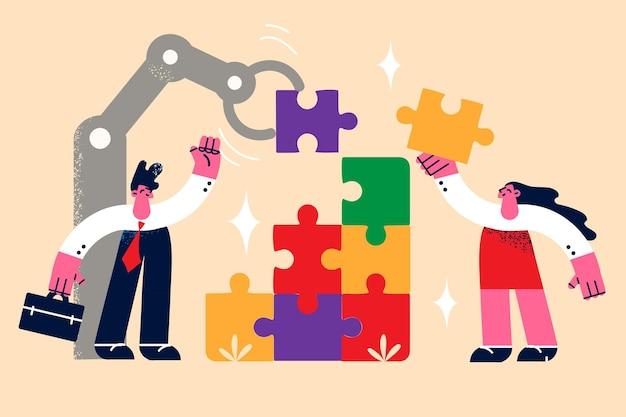 Teamwork zakelijke samenwerking samenwerking concept