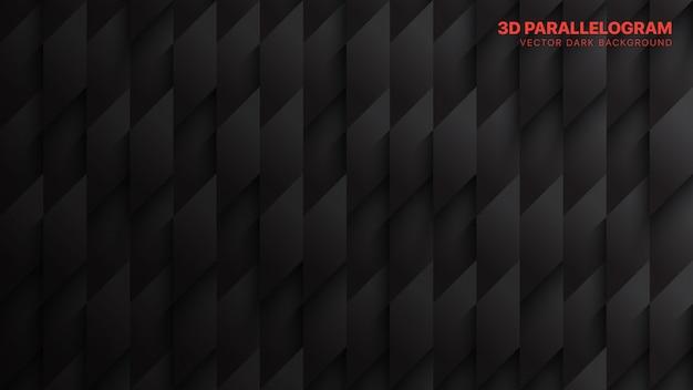Tech-parallellogrammen donkergrijze abstracte achtergrond