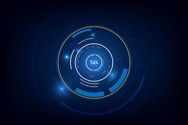 Tech sci fi cirkel ontwerp innovatie achtergrond