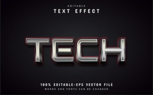 Tech-tekst, teksteffect in zilveren stijl