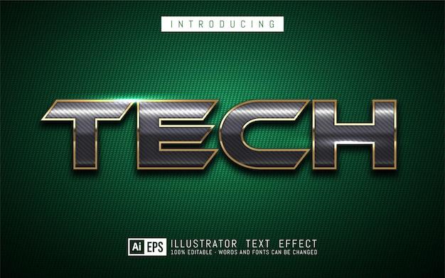 Tech-teksteffect, bewerkbare 3d-tekststijl