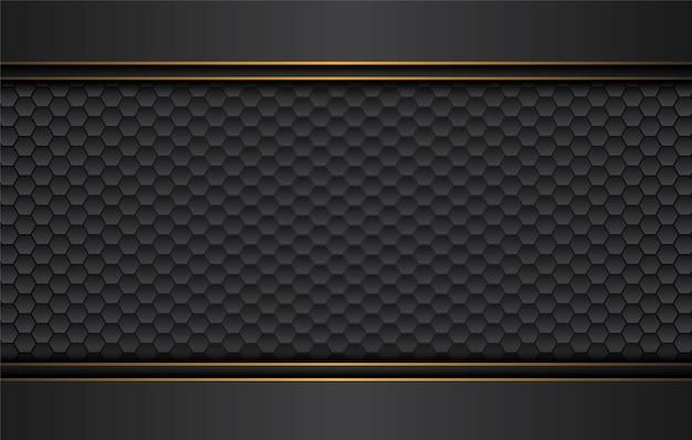 Tech zwarte achtergrond met abstracte vormen