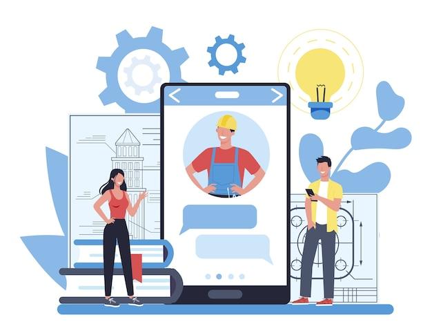 Technisch online service of platform