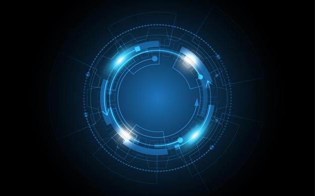 Technische achtergrond hi-tech communicatie concept innovatie abstracte achtergrond