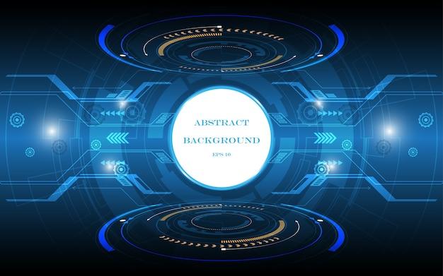 Technische achtergrond hi-tech communicatieconcept