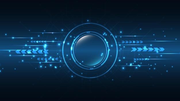 Technische achtergrond. hitech communicatieconcept