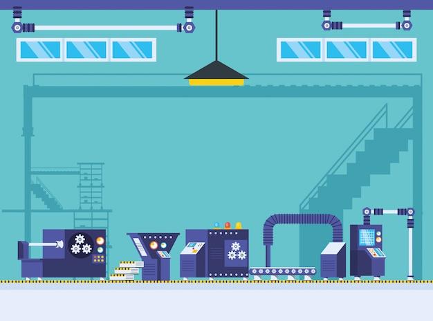 Technische fabrieksscène
