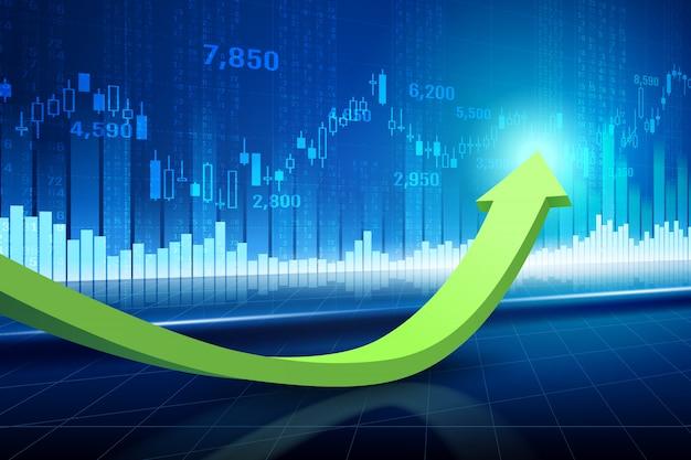 Technische grafiek van aandelenmarkt