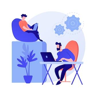 Technische hulp. systeemkalibratie, softwareconfiguratie, instellingen aanpassen. professionele computeronderhoudsservice, technicus beroep concept illustratie