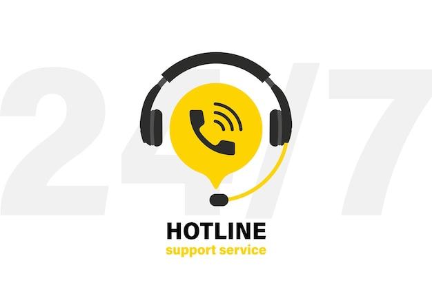 Technische ondersteuning koptelefoon met microfoon en chat-spraakballon. ondersteuningsdienst voor gebruikersoverleg. pictogram voor klantenondersteuning. operator, secretaris. callcenter 24-7. hotline-ondersteuningsservice
