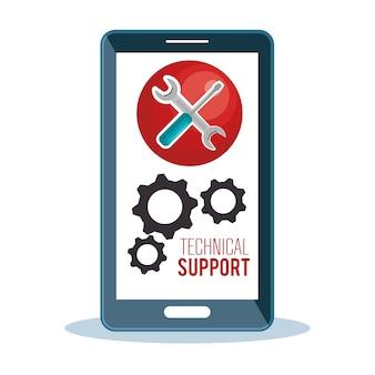 Technische ondersteuningsdienst pictogram
