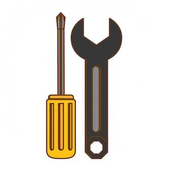 Technische werkplaats voorraad embleem pictogram