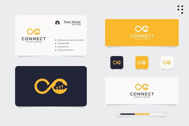 Techno cloud-logo met oneindigheidssymbool