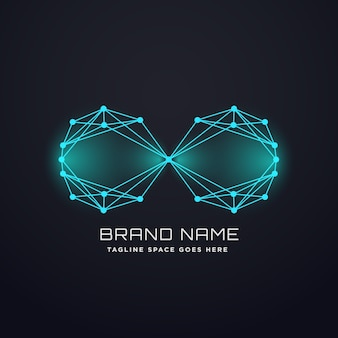 Techno digital infinity logo design concept