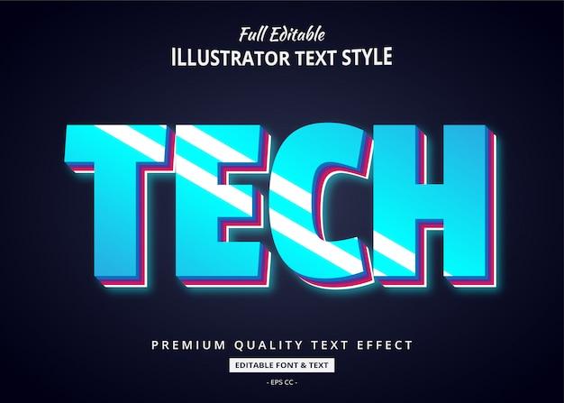 Techno future text style effect