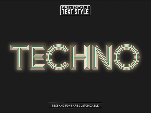 Techno lijn minimalistisch kleurenteksteffect