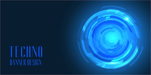 Techno-stijl banner