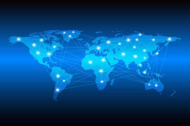 Technologie abstract voor netwerkcommunicatie van de wereld