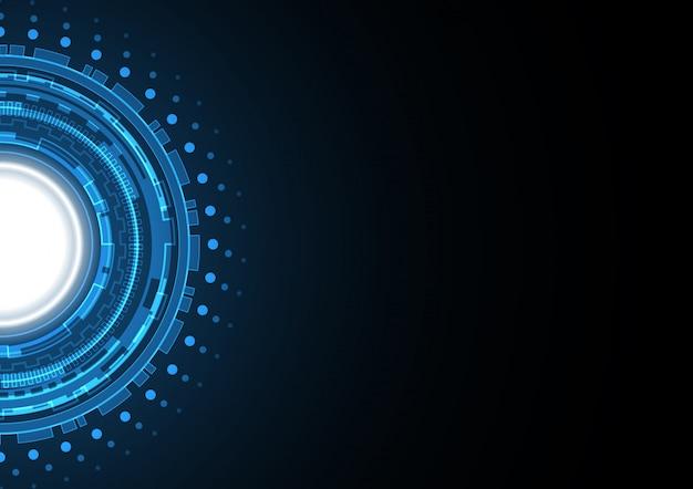 Technologie abstracte cirkel achtergrond