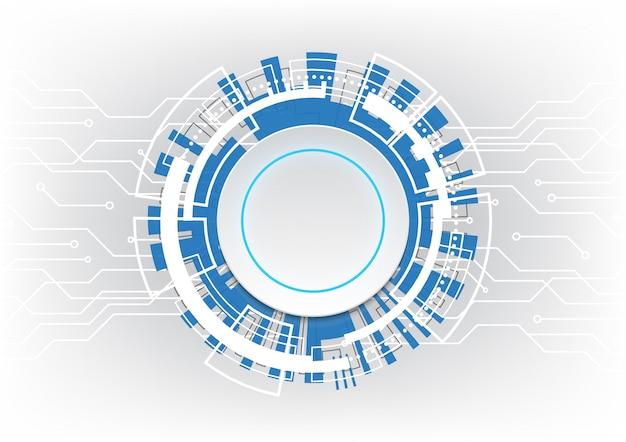 Technologie abstracte cirkel circuit vector achtergrond