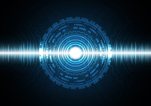 Technologie abstracte cirkel golf signaal oscillerende achtergrond