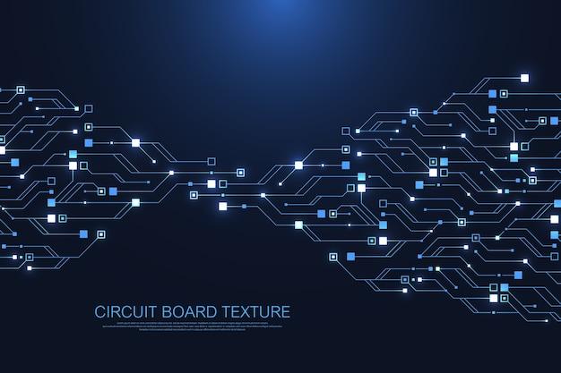 Technologie abstracte printplaat textuur achtergrond. hightech futuristisch circuit.