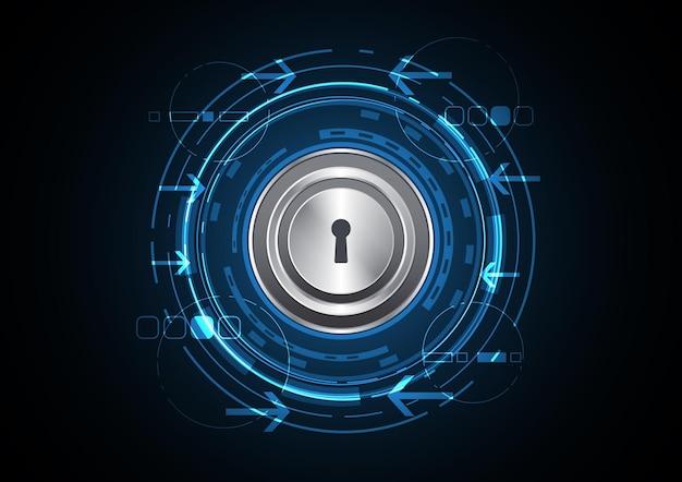 Technologie abstracte toekomstige cirkel sleutelgat achtergrond