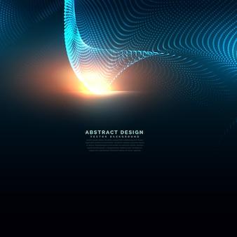 Technologie achtergrond gemaakt met deeltjes