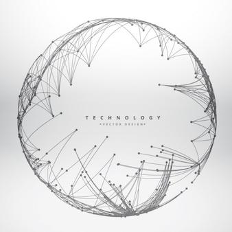 Technologie achtergrond gemaakt met ronde mesh