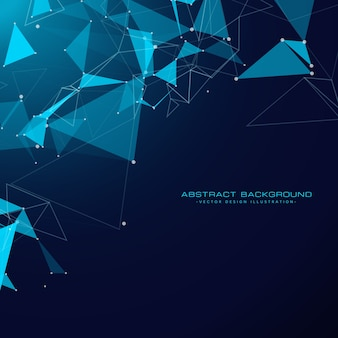 Technologie achtergrond met driehoek vormen en gaas