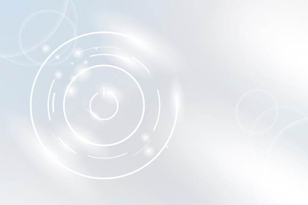 Technologie achtergrond van de aan / uit-knop in witte toon