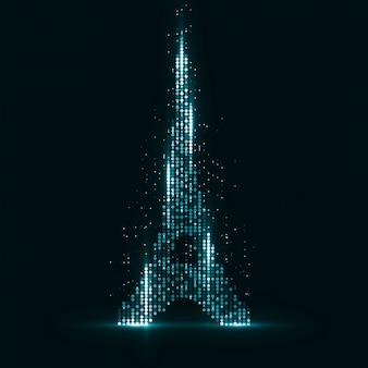 Technologie beeld van parijs