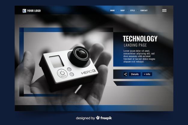 Technologie bestemmingspagina met foto