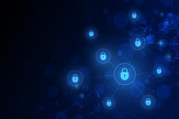 Technologie beveiligingsachtergrond