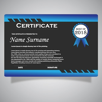 Technologie blauw certificaat
