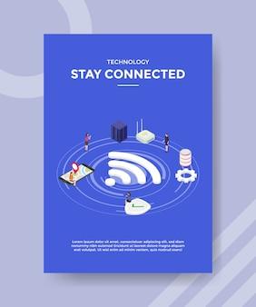 Technologie blijft verbonden flyer-sjabloon