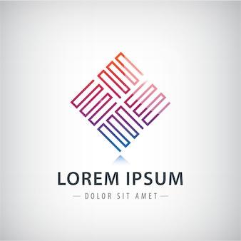 Technologie business abstracte logo ontwerpsjabloon. oneindigheid. zeshoek. mode-sieraden luxe concept geometrische lus.