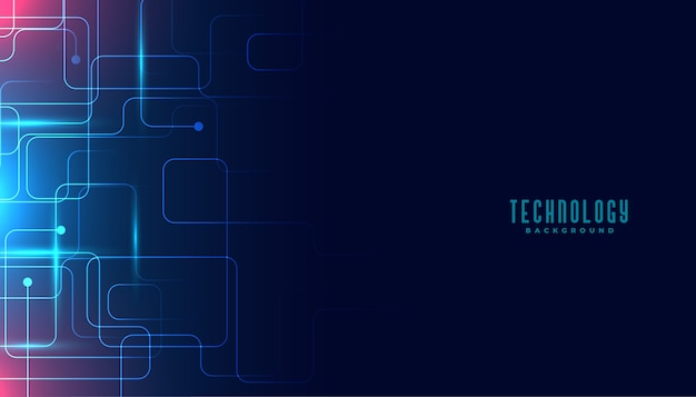 Technologie circuit lijnen digitaal achtergrondontwerp