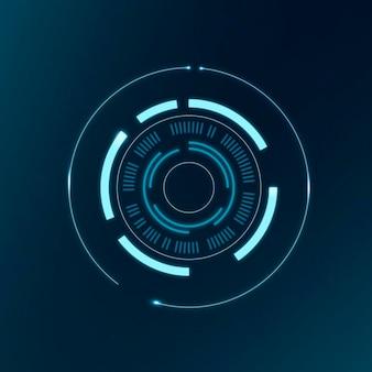 Technologie cirkel ai, abstract vector computer vision design