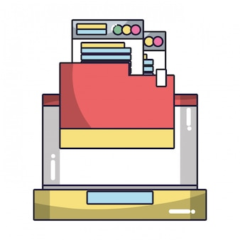 Technologie computing cartoon