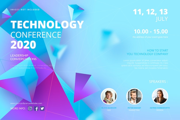 Technologie conferentie poster sjabloon